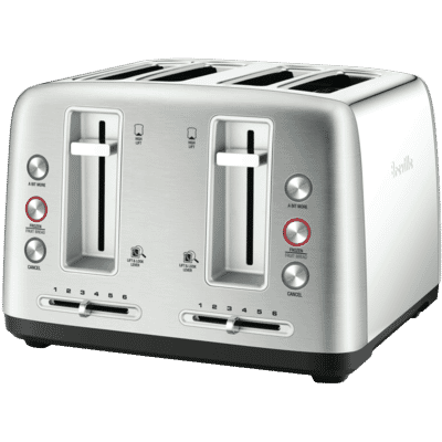 Breville - The Toast Control 4 Slice Toaster - Stainless Steel