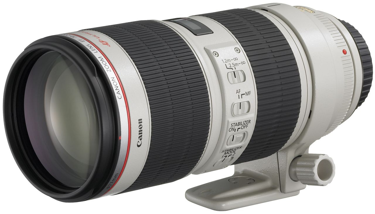 Canon - EF 70-200mm f/2.8L IS II USM Telephoto Camera Lens - White