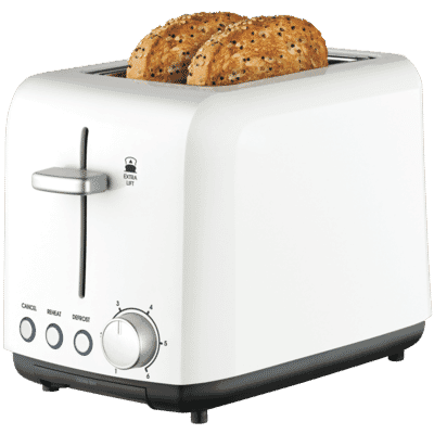 Kambrook - 2 Slice wide slot Toaster - White